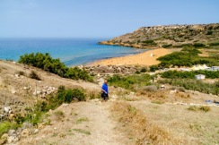 Malta - Day 13: Floating on the Inland Sea, the Ggantija Temples and a Red Sandy Beach